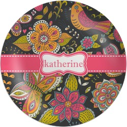Birds & Butterflies Melamine Plate (Personalized)