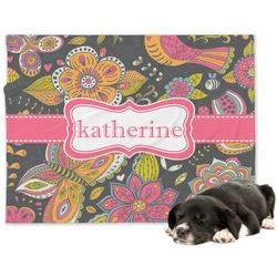 Birds & Butterflies Minky Dog Blanket - Large  (Personalized)