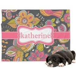 Birds & Butterflies Dog Blanket (Personalized)
