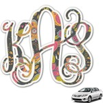 Birds & Butterflies Monogram Car Decal (Personalized)