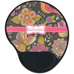 Birds & Butterflies Mouse Pad with Wrist Support