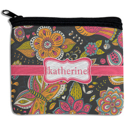Birds & Butterflies Rectangular Coin Purse (Personalized)