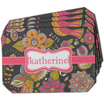 Birds & Butterflies Dining Table Mat - Octagon w/ Name or Text