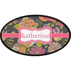 Birds & Butterflies Oval Trailer Hitch Cover (Personalized)