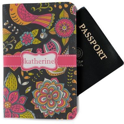 Birds & Butterflies Passport Holder - Fabric (Personalized)