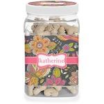 Birds & Butterflies Dog Treat Jar (Personalized)