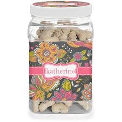 Birds & Butterflies Pet Treat Jar (Personalized)