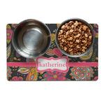 Birds & Butterflies Dog Food Mat (Personalized)