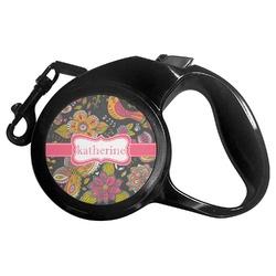 Birds & Butterflies Retractable Dog Leash - Multiple Sizes (Personalized)