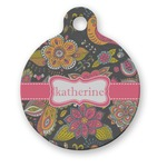Birds & Butterflies Round Pet Tag (Personalized)