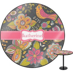 Birds & Butterflies Round Table (Personalized)