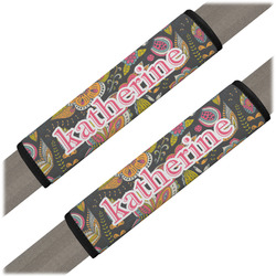 Birds & Butterflies Seat Belt Covers (Set of 2) (Personalized)