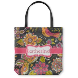 Birds & Butterflies Canvas Tote Bag (Personalized)