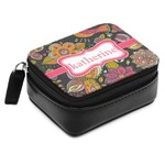 Birds & Butterflies Small Leatherette Travel Pill Case (Personalized)