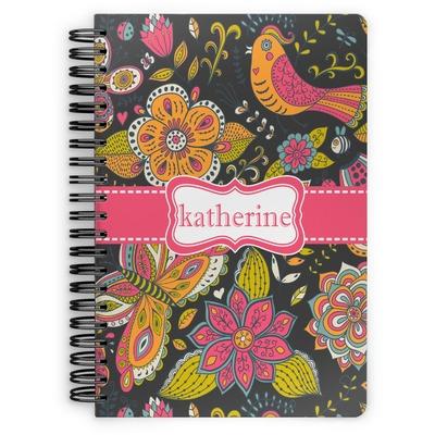 Birds & Butterflies Spiral Notebook (Personalized)