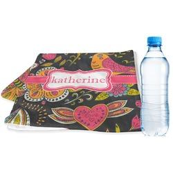 Birds & Butterflies Sports & Fitness Towel (Personalized)