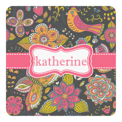 Birds & Butterflies Square Decal - Custom Size (Personalized)