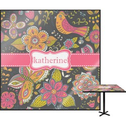 Birds & Butterflies Square Table Top (Personalized)