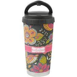 Birds & Butterflies Stainless Steel Travel Mug (Personalized)