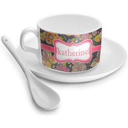 Birds & Butterflies Tea Cup - Single (Personalized)