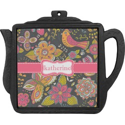 Birds & Butterflies Teapot Trivet (Personalized)