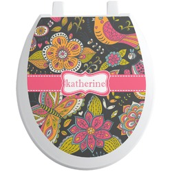 Birds & Butterflies Toilet Seat Decal (Personalized)
