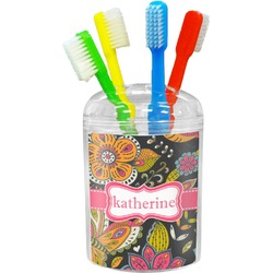 Birds & Butterflies Toothbrush Holder (Personalized)