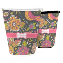 Birds & Butterflies Waste Basket (Personalized)
