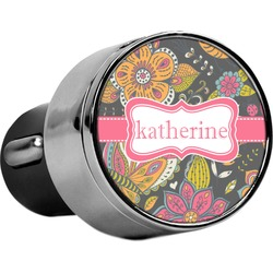 Birds & Butterflies USB Car Charger (Personalized)