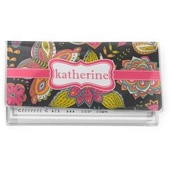 Birds & Butterflies Vinyl Checkbook Cover (Personalized)