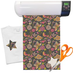 "Birds & Butterflies Heat Transfer Vinyl Sheet (12""x18"")"