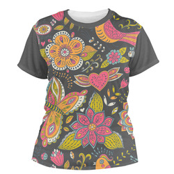 Birds & Butterflies Women's Crew T-Shirt (Personalized)