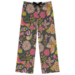 Birds & Butterflies Womens Pajama Pants - XL (Personalized)