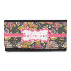 Birds & Butterflies Leatherette Ladies Wallet (Personalized)