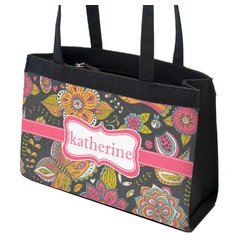 Birds & Butterflies Zippered Everyday Tote (Personalized)
