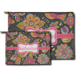 Birds & Butterflies Zipper Pouch (Personalized)