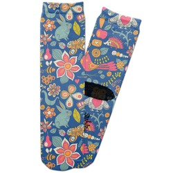 Owl & Hedgehog Adult Crew Socks (Personalized)