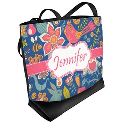 Owl & Hedgehog Beach Tote Bag (Personalized)
