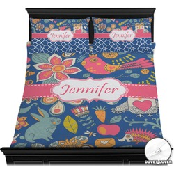 Owl & Hedgehog Duvet Cover Set (Personalized)