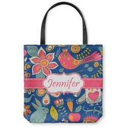 Owl & Hedgehog Canvas Tote Bag (Personalized)