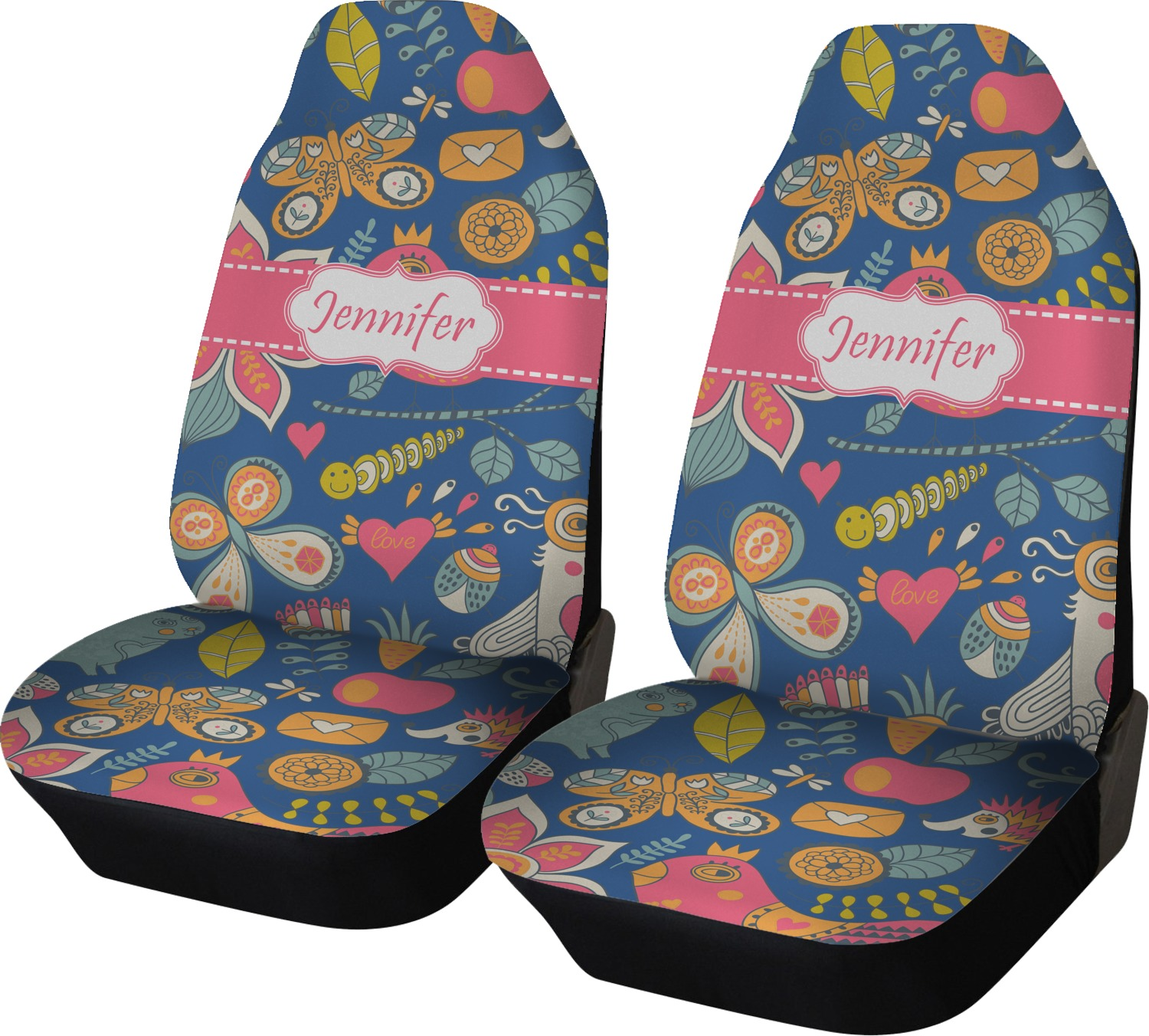 Owl Amp Hedgehog Car Seat Covers Set Of Two Personalized