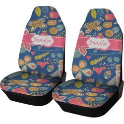 Owl & Hedgehog Car Seat Covers (Set of Two) (Personalized)