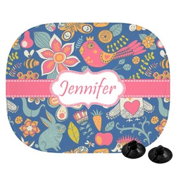Owl & Hedgehog Car Side Window Sun Shade (Personalized)