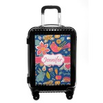 Owl & Hedgehog Carry On Hard Shell Suitcase (Personalized)