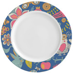 Owl & Hedgehog Ceramic Dinner Plates (Set of 4) (Personalized)