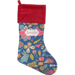 Owl & Hedgehog Christmas Stocking (Personalized)