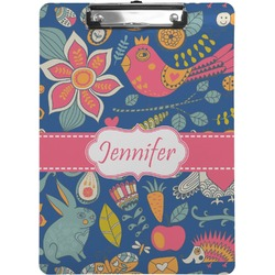 Owl & Hedgehog Clipboard (Personalized)