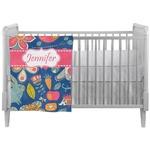Owl & Hedgehog Crib Comforter / Quilt (Personalized)