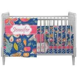 Owl & Hedgehog Crib Comforter / Quilt (Personalized)