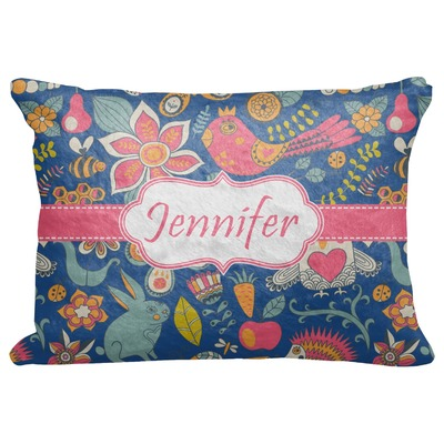 "Owl & Hedgehog Decorative Baby Pillowcase - 16""x12"" (Personalized)"